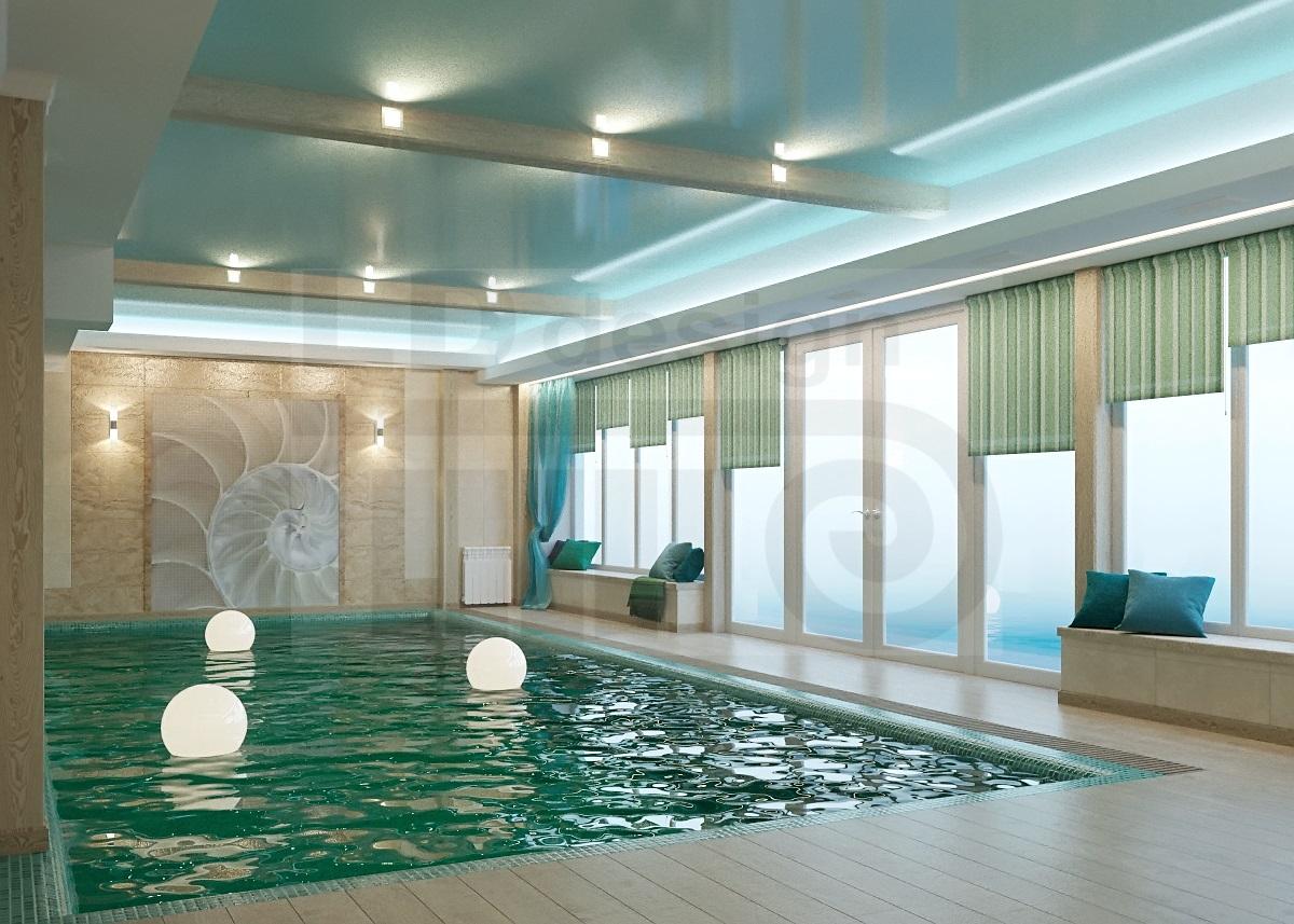 Дизайн интерьера бассейна