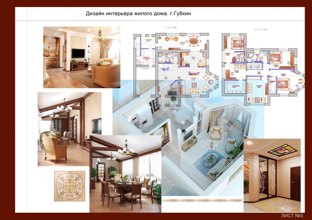 Дизайн интерьеров жилого дома, дизайн-проекты