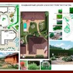генплан участка, ландшафтный дизайн, ландшафт и благоустройство, дизайн старый осокл