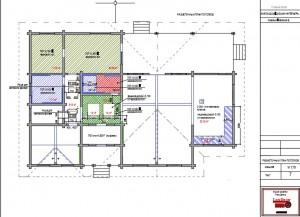 Разметочный план потолков
