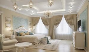 спальня, дизайн спальни, классический интерьер, лена дизайн, дизайн интерьеров