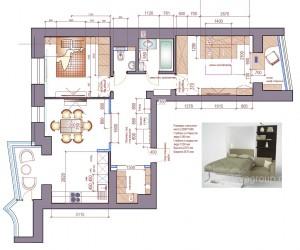 планировка квартиры, схема расположения мебели, дизайн проект