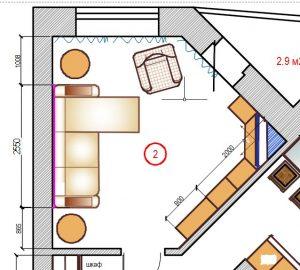дизайн гостиной, дизайн проект гостиной