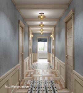 коридор в загородном доме, прованк , шеби шик.