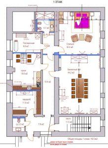 дизайн проект дома, дизайн коридора, прованс, кантри
