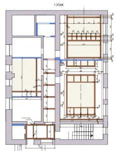 дизайн-проект дома, план потолков, балки