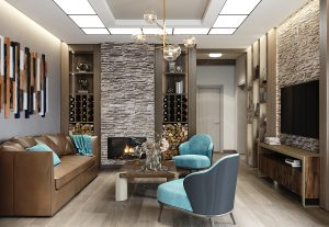 дизайн бани, интерьер комнаты отдыха